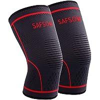 SAFSOU Knee Compression Sleeve | Knee Brace for Men & Women | Knee Support for Running, Basketball, Weightlifting, Gym…