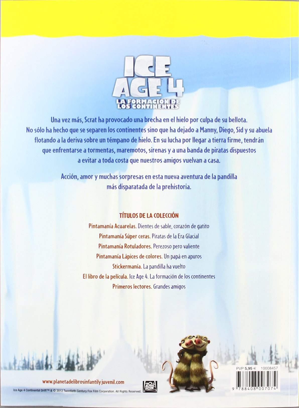El libro de la película: Ice Age 4: 9788408007074: Amazon.com: Books