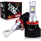 [AutoSite/LEDA] LEDヘッドライト H8 H9 H11 H16 5000k 車検対応 6600lm レダLA02プラス LEDハイビーム LEDフォグランプ 汎用 CREE 12v