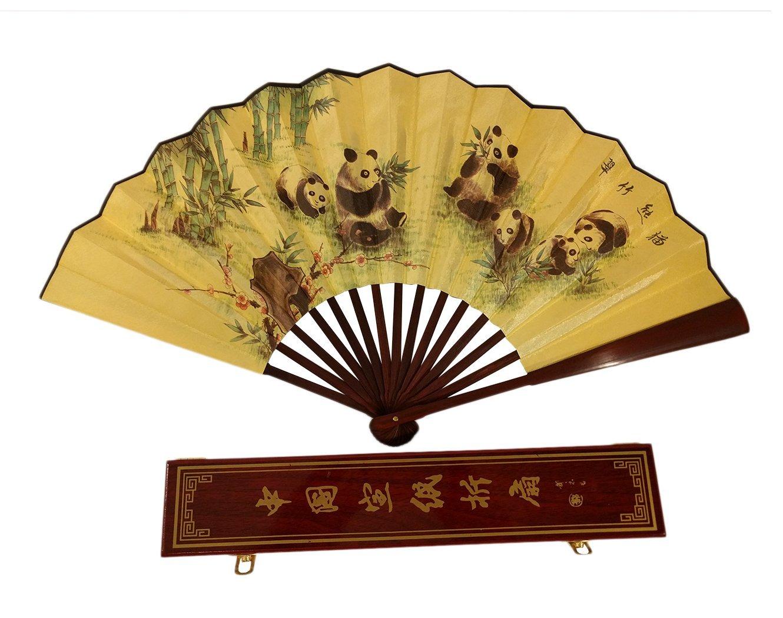 Amazon.com: Folding Fan Chinese Gift Set! Panda Hand Held Fan + ...