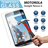 Google Nexus 6 Tempered Glass Screen Protector,Ultra Thin 0.26mm Scratch Resistant Tempered Glass Screen Protector for Google Nexus 6