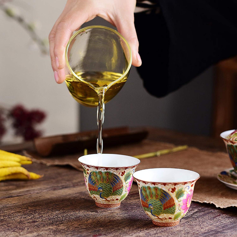 Cloisonne Enamel Ceramic Teacup Master Cup Single Faire Wash Set Accessories Small Tea Cup,1 Huachaoxiang Porcelain Kung Fu Tea Set