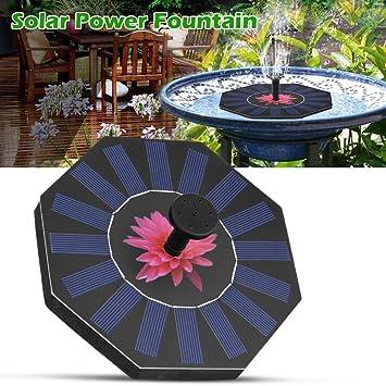 Springbrunnen Solar Wasserpumpe,Solar Power Brunnen, Garten Garten  Landschaft Garten Teich Bewässerung Kit
