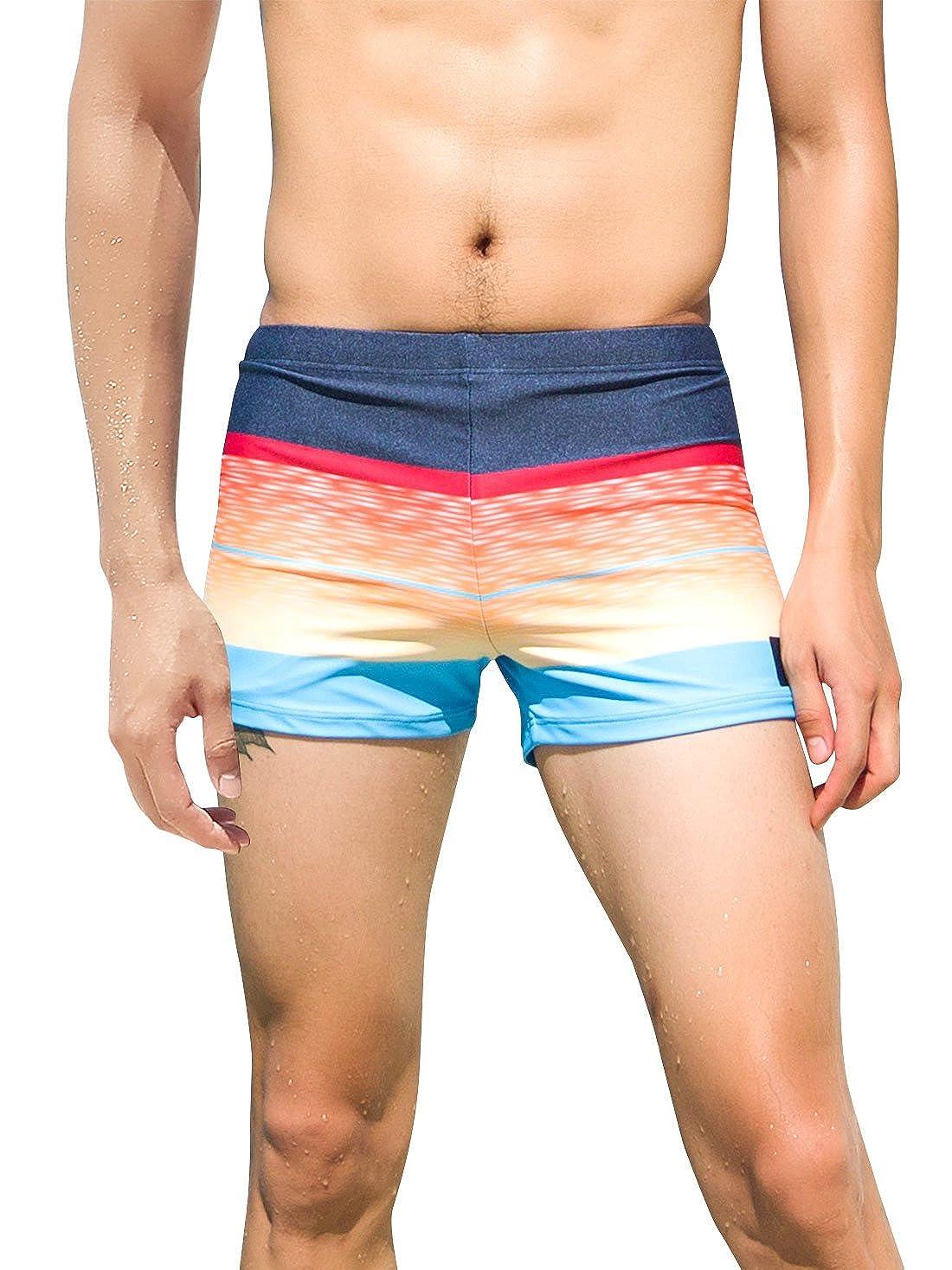 SANQI Traje de Baño Verano Bañador Elástico para Hombre Playa Surf Viaje Pantalones de Natación con Estampado - Multicolor 4