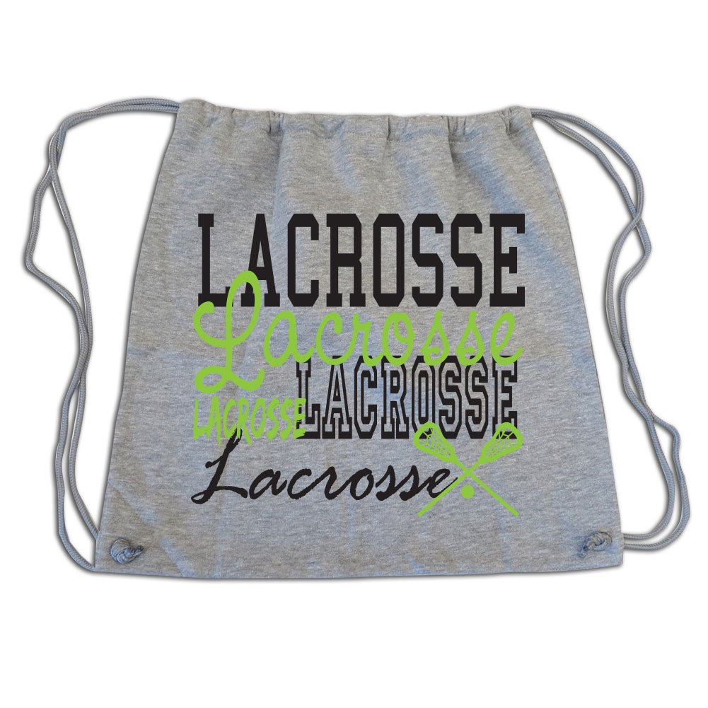 Sports Katz Drawstring Bag Lacrosse Gray