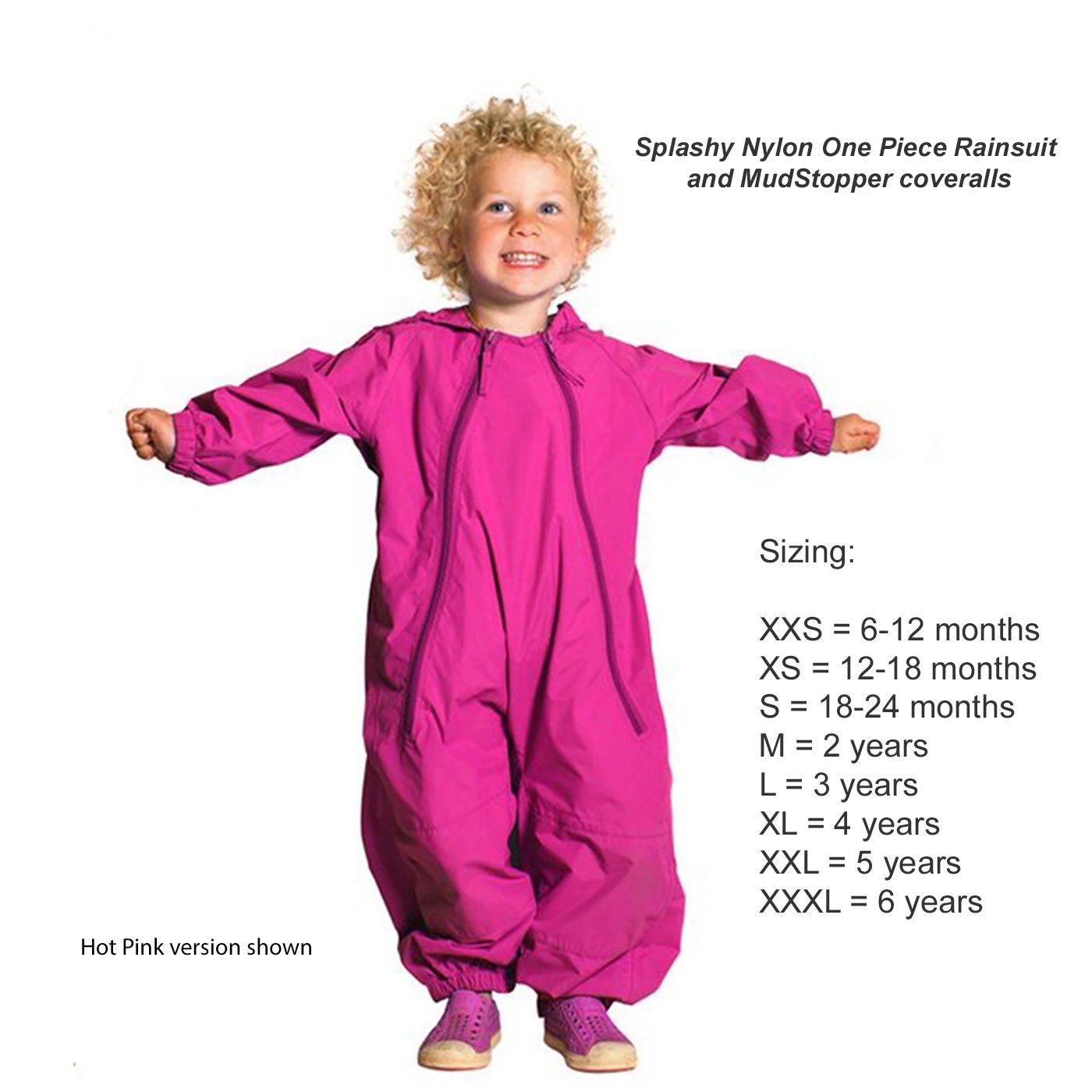 f3f38df51 Amazon.com  Splashy Nylon Children s One Piece Rainsuits and ...