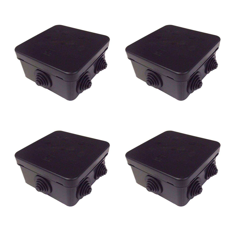 Pack de 4/x caja de derivaci/ón IP55/en negro HP80/externa CCTV tetera els IP Caja
