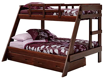 Amazon Com Chelsea Home Twin Over Full A Frame Pine Bunk Bed
