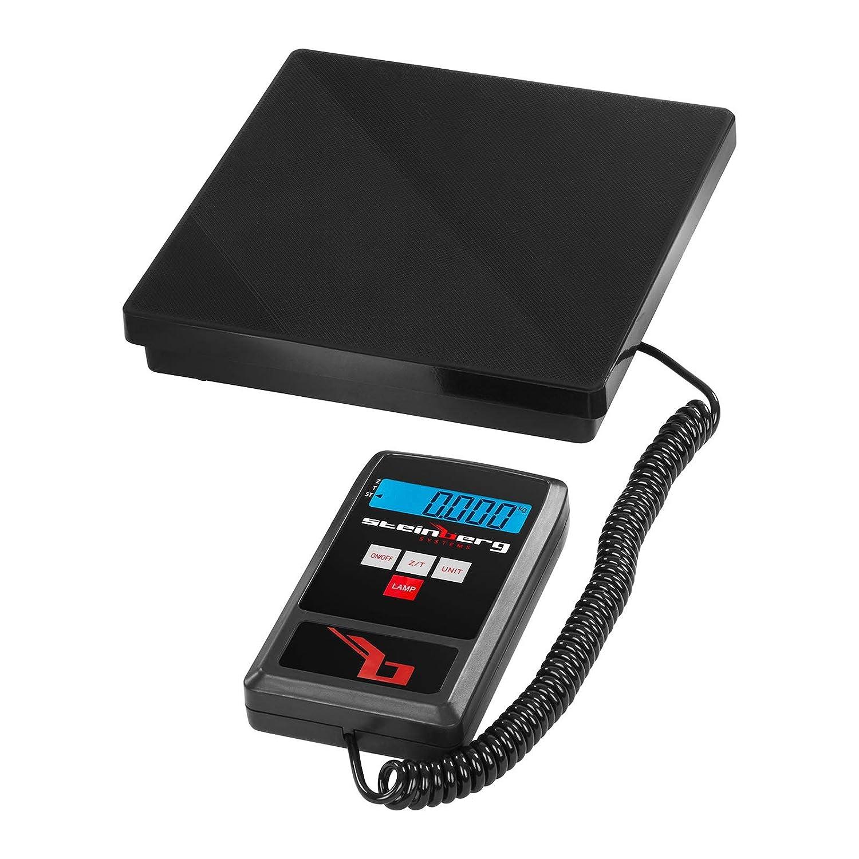 40kg//1g, adaptateur inclus 6V, 500 mA Steinberg Balance Professionnelle P/èse-colis P/èse Paquet Bureau de Poste SBS-PT-40//1 kg, g, lb, oz, kg-g, lb-oz 6 unit/és de mesure , LCD