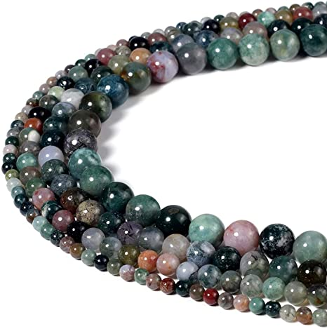 Natural Indian Agate Gemstone Round Beads 15/'/' 4mm 6mm 8mm 10mm 12mm