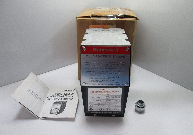 Honeywell, Inc. V4055A1312 On-Off Fluid Power Gas Valve Actuator, 120 Vac, 60 Hz