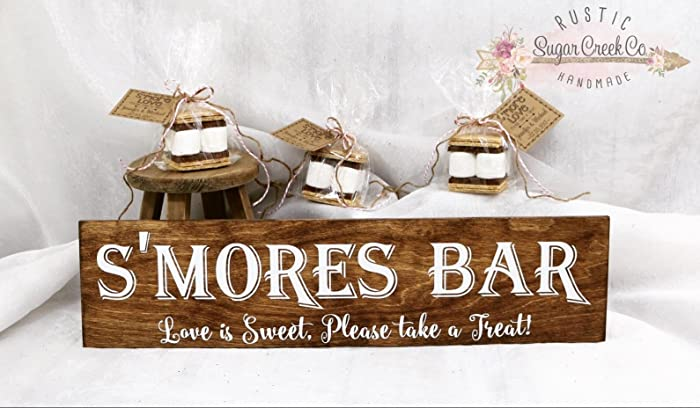 Amazon.com: S\'mores Bar Wedding Sign, Love Is Sweet, Please Take A ...