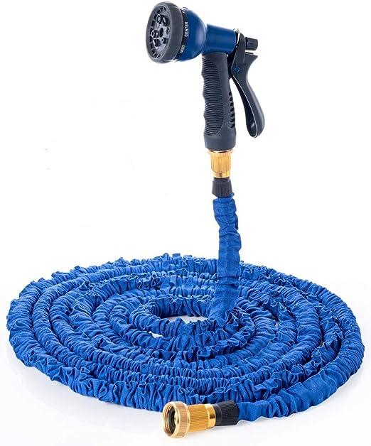 QILICZ Manguera de jardín Manguera Agua Flexible Ampliable Flexi Manguera Espiral Tejido Tubo de Metal de Conexiones para riego, Auto, Ropa de hogar Lavabos, Pet Baños, De Limpieza: Amazon.es: Jardín