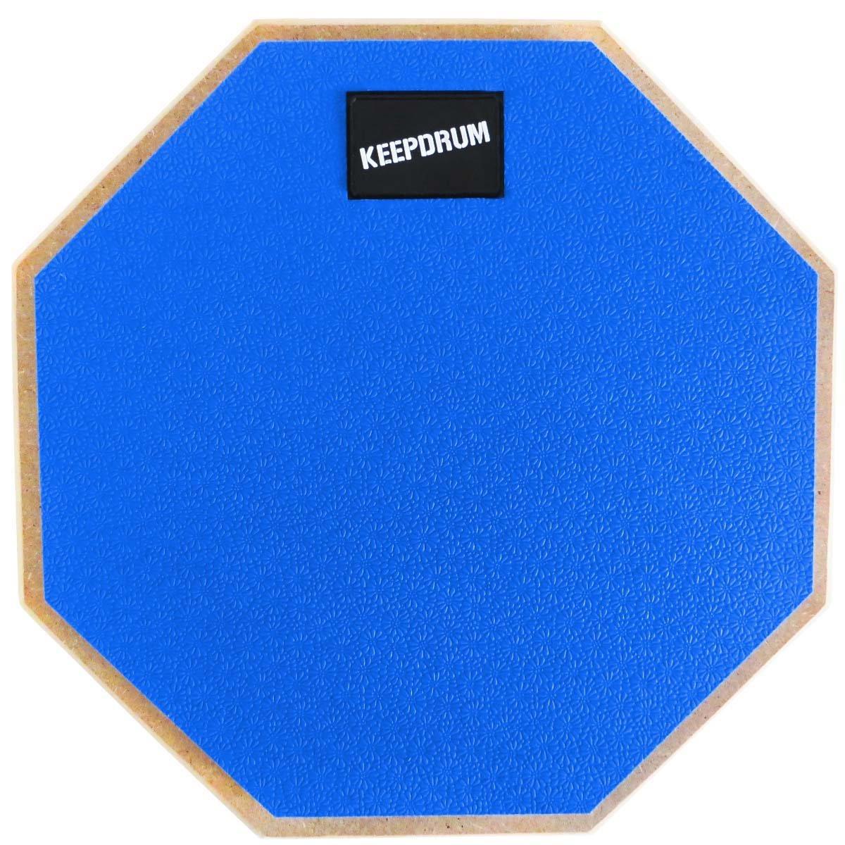 keepdrum DP-GY8 Practice Pad Grau Drumsticks 5BB Black