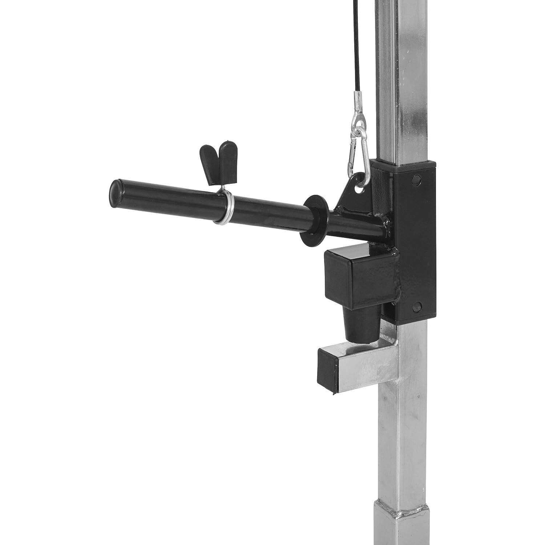 Universal Gorilla Sports Torre de poleas Accesorio para estaci/ón Cromo,/soporta hasta 100/kg duerza de tracci/ón