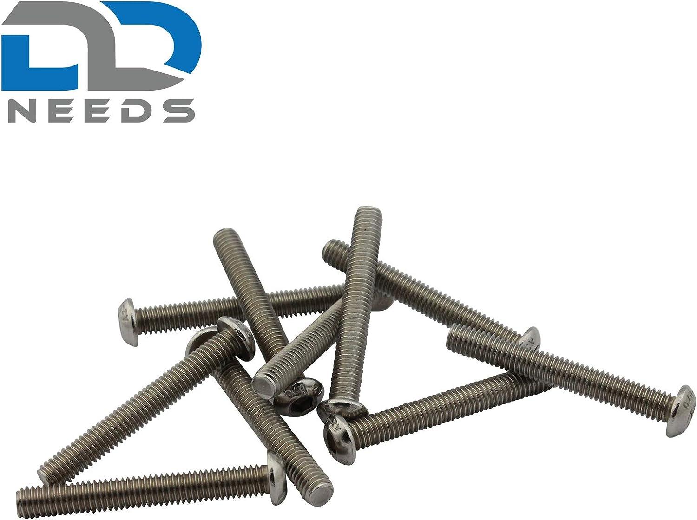 PU: 20 pi/èces vis /à t/ête cylindrique D2D Vis /à t/ête plate M3 x 5 mm avec six pans creux ISO 7380-1 en acier inoxydable A2 V2A