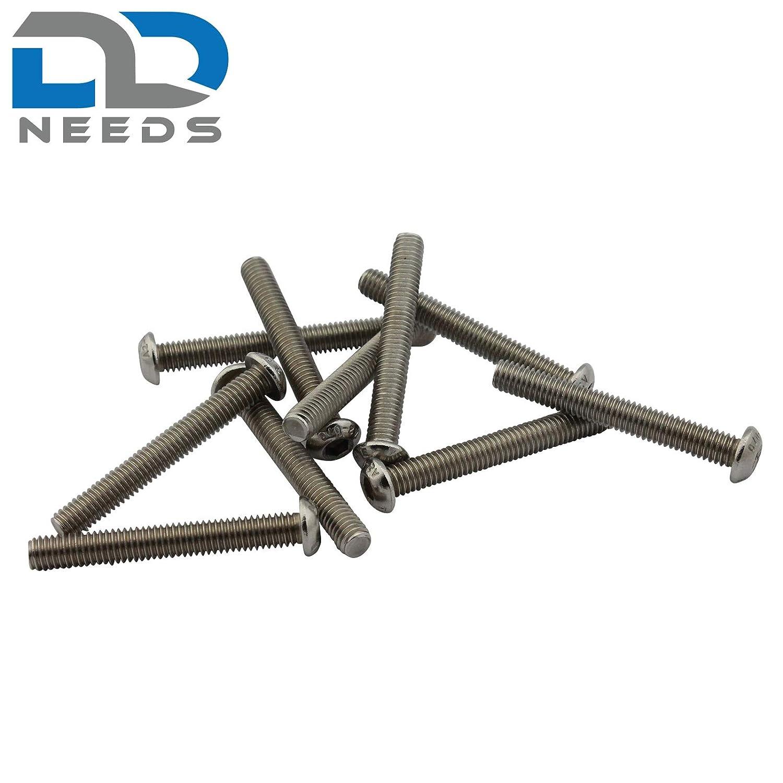 D2D Flachkopfschrauben M8 x 70 mm mit Innensechskant ISO 7380-1 aus Edelstahl A2 V2A Linsenkopfschrauben VPE: 20 St/ück
