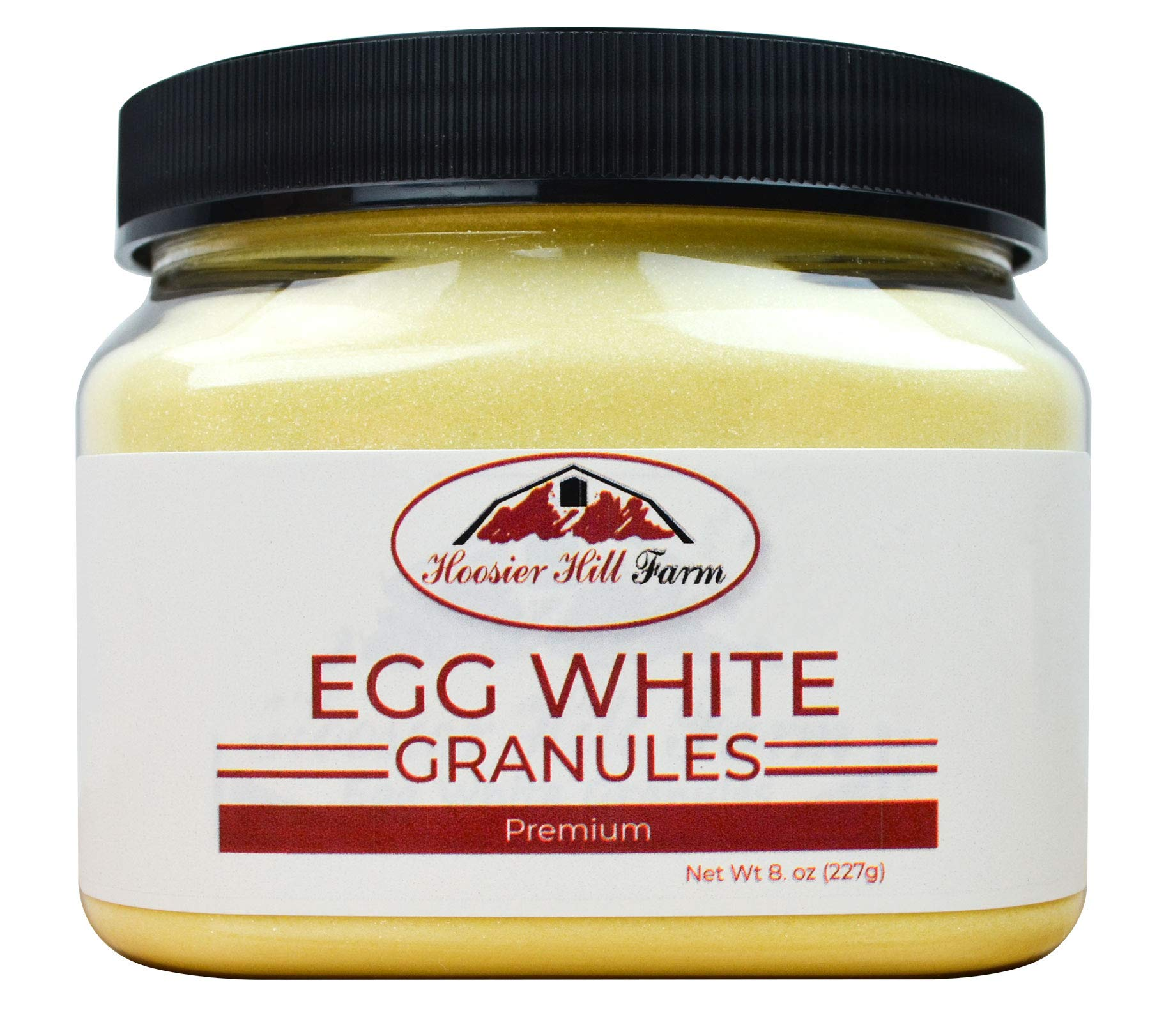 Hoosier Hill Farm Egg White Granules 8oz. Jar
