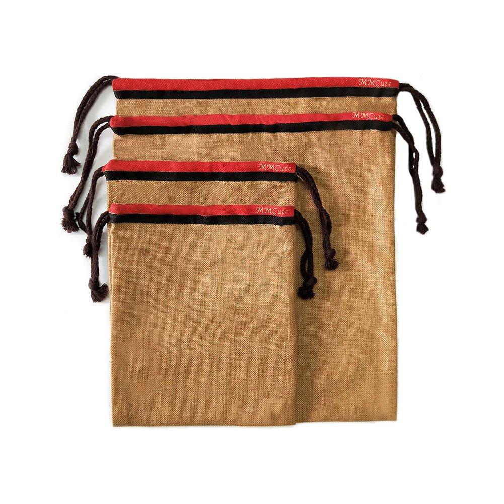 【超特価sale開催】 強力な再利用可能なバッグ、生成のセット4|eco-friendly Organic Organic Linen Drawstring Bag Set, Grocery x Shopping Grocery &ストレージドレスand靴S、多機能(2 &ガーデンProduce 8 x 10インチ、2大12 x 14インチ) B07DYR2DZT, DANBO:970e05c6 --- arianechie.dominiotemporario.com