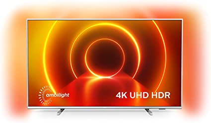 Televisor 4K UHD Ambilight Philips 43PUS7855/12 de 43 pulgadas (P5 Perfect Picture Engine, Asistente Alexa integrada, Smart TV, Función de control por voz), Color plata claro (modelo de 2020/2021): Amazon.es: Electrónica