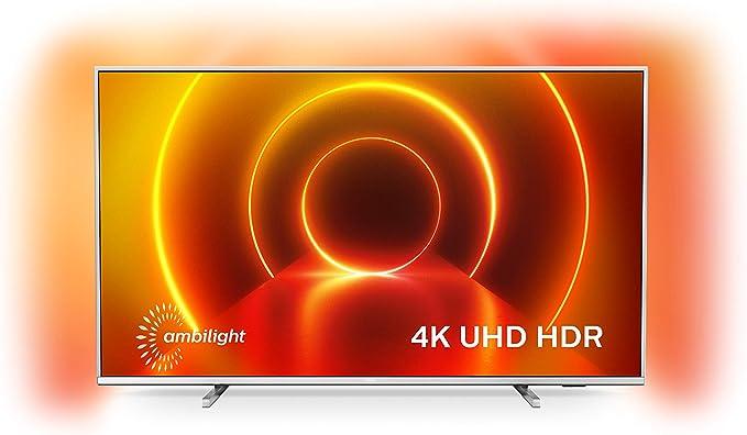 Televisor 4K UHD Ambilight Philips 70PUS7855/12 de 70 pulgadas (P5 Perfect Picture Engine, Asistente Alexa integrada, Smart TV, Función de control por voz), Color plata claro (modelo de 2020/2021): Amazon.es: Electrónica