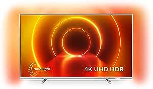 Televisor 4K UHD Ambilight Philips 55PUS7855/12 de 55 pulgadas (P5 Perfect Picture Engine, Asistente Alexa integrada, Smart TV, Función de control por voz), Color plata claro (modelo de 2020/2021): Amazon.es: Electrónica