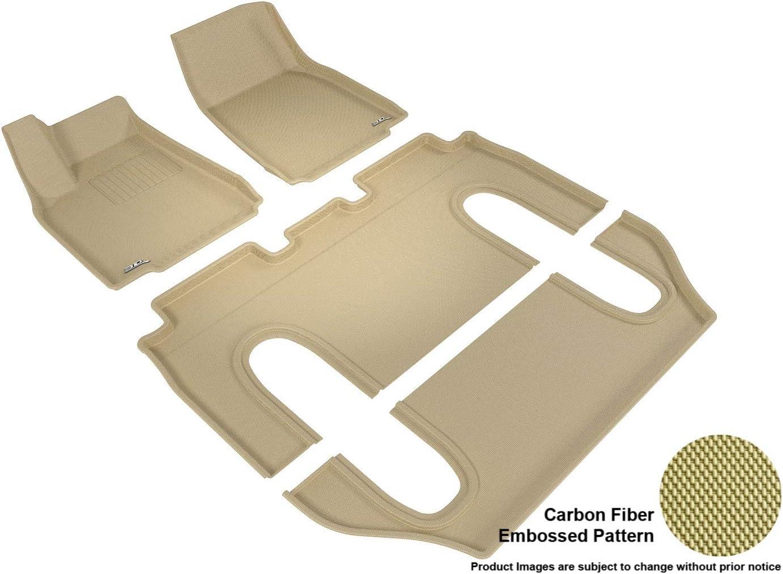 Kagu Rubber 3D MAXpider Complete Set Custom Fit All-Weather Floor Mat for Select Honda Fit Models Tan