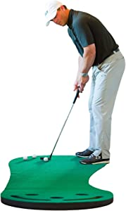 SHAUN WEBB Signature Putting Green Indoor Mat 9'x3' (Designed by PGA Pro & Golf Digest's Top Teacher) Improve Your Putting Stroke and Lower Scores - Zero Bumps and Creases, Thick & Wide Surface