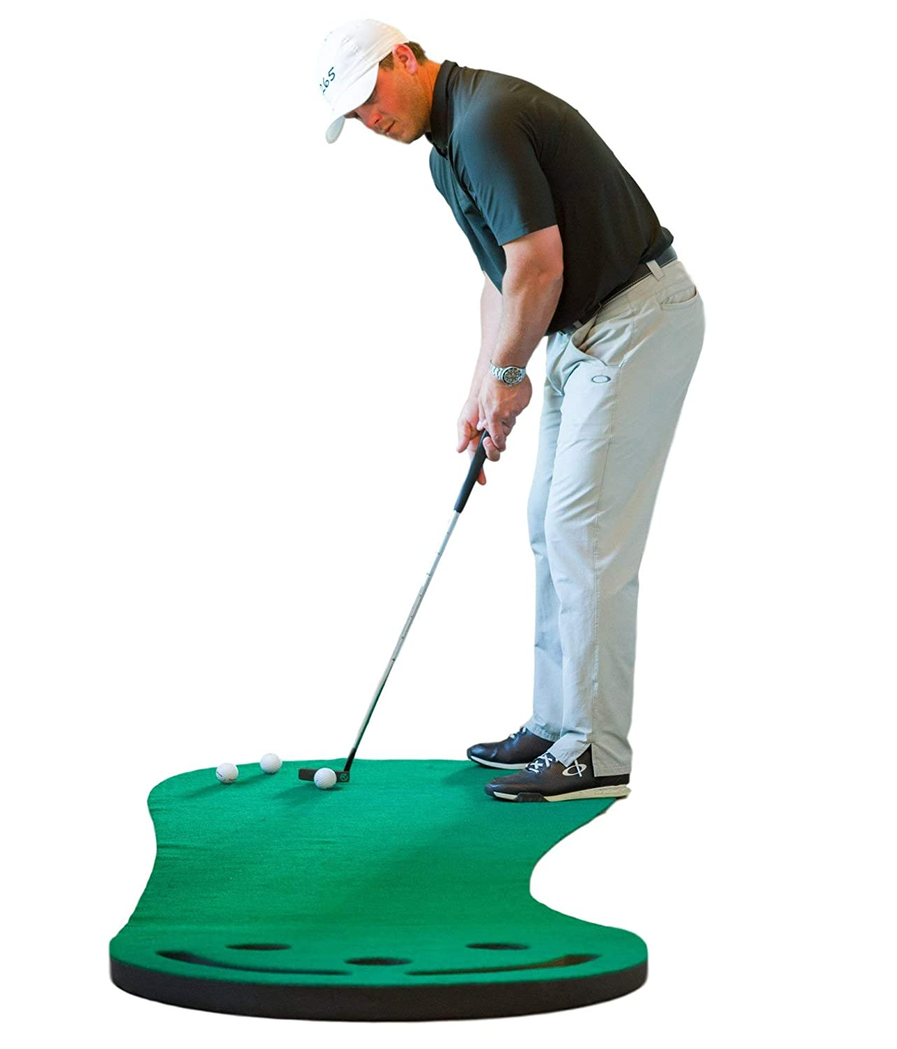 SHAUN WEBB Signature Putting Green Indoor Mat 9 x3 Designed by PGA Pro Golf Digest s Top Teacher Improve Your Putting Stroke and Lower Scores – Zero Bumps and Creases, Thick Wide Surface