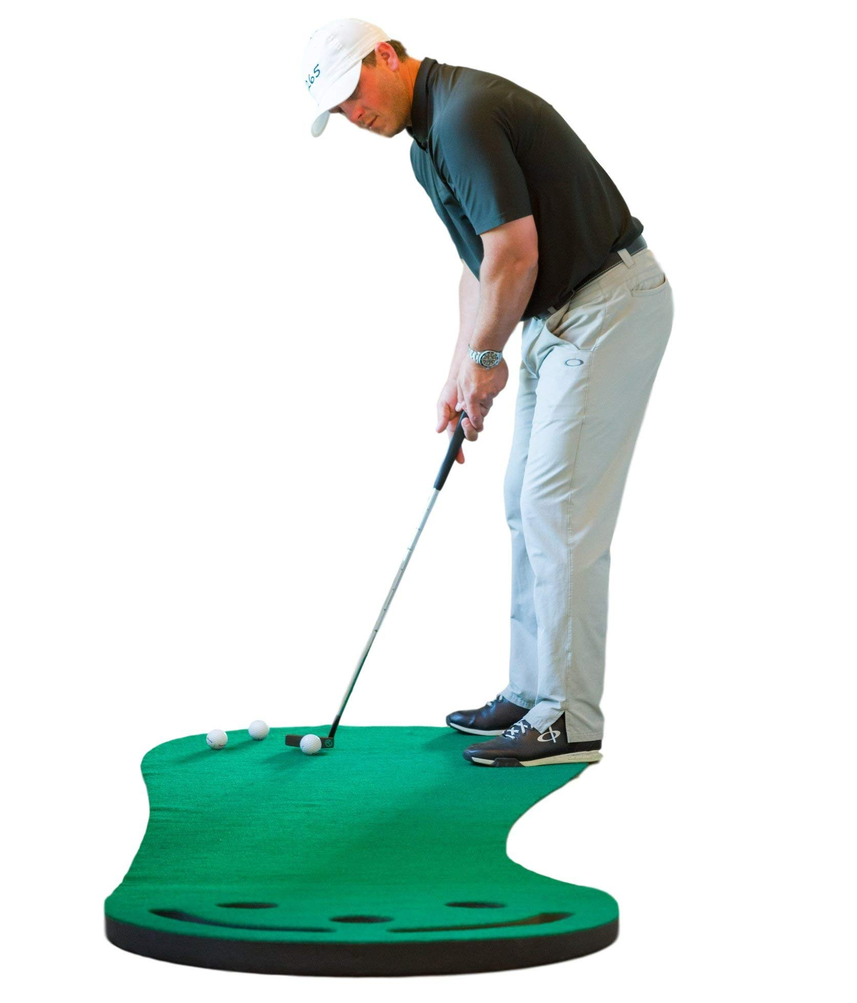 SHAUN WEBB Signature Putting Green Indoor Mat 9'x3' (Designed by PGA Pro & Golf Digest's Top Teacher) Improve Your Putting Stroke and Lower Scores - Zero Bumps and Creases, Thick & Wide Surface by SHAUN WEBB