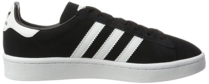 Amazon.com | adidas Youth Campus Suede Synthetic Core Black White Trainers 5 US | Shoes