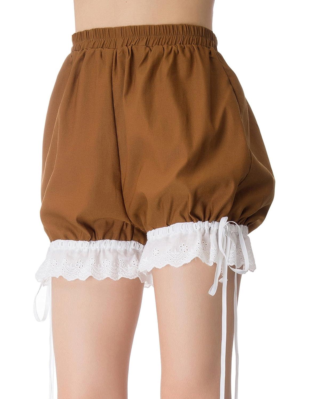 Steampunk Women's Pants, Leggings & Bloomers Women Lolita Bloomers Victorian Lace Shorts Renaissance Costume Pants SL000030 $19.99 AT vintagedancer.com