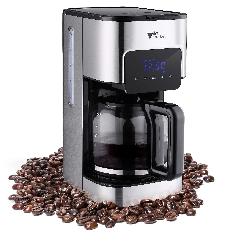 5a8c8e3a37ada8 amzdeal Cafetière à Filtre Programmable à 12 Tasse - Machine à Café à Écran  Tactile avec