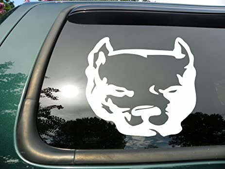 Amazoncom Pitbull Die Cut Vinyl Window Decalsticker For Car Or - Window decals amazon
