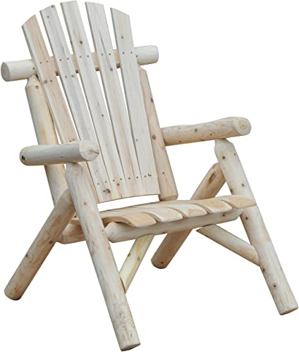 Outsunny Fir Wood Adirondack Outdoor Patio Lounge Chair