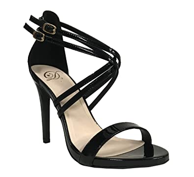 847e80753 Women's High Heel Sandal Open Toe Ankle Buckle Cross Strappy Evening Dress  Party Shoes | Heeled Sandals