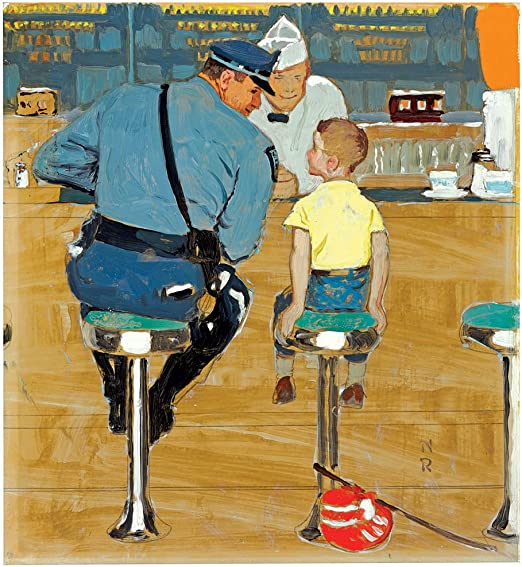 Norman Rockwell The Ungrateful Man Giclee Canvas Print Paintings Poster Reproduc