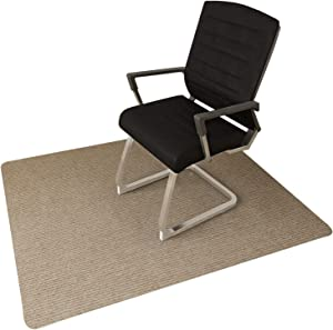"Office Chair Mat for Hardwood Floor, Chair Mat Hard Floor Protector, 0.16"" Thick 48""x36"" Chair Carpet Multi-Purpose for Desks, Office and Home (Khaki)"