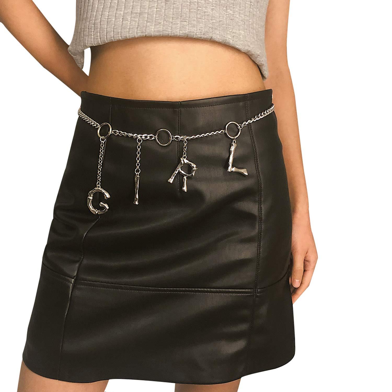Women/'s Golden Waist Belt for Jeans Dresses Adjustable Body Harness Wallet Chain Long Tassel Waistbands