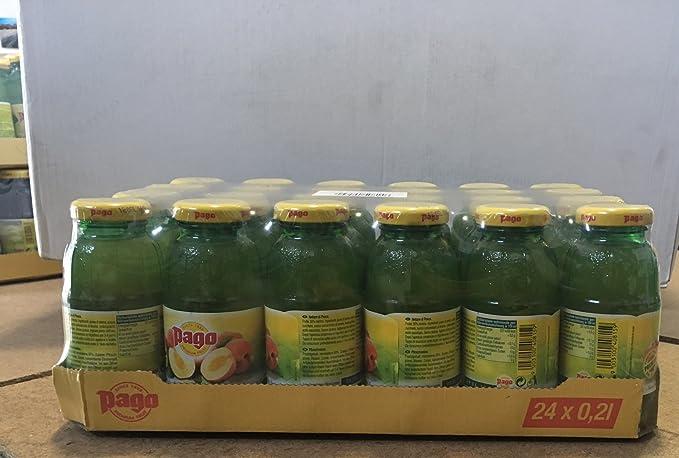 Pago zumo de melocotón cl 20 x 24 botellas de vidrio de jugo de fruta