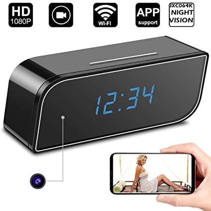 Jenix 5MP WiFi Spy Camera Clock, Motion Based Hidden Camera, Night Vision  Secret Camera with Audio and Video Recording