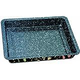 STONELINE 16072 Kuchenform extra tief, antihaft mit Prisma-Effekt Backform, Karbonstahl, mehrfarbig, 28,5 x 23 cm