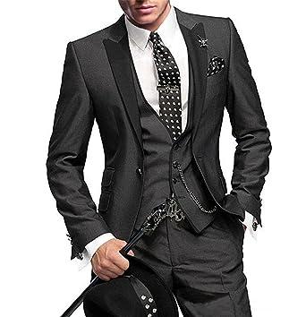 Yunjia Mens Suit Slim Fit Groom Tuxedos Bridegroom Wedding Suit ...