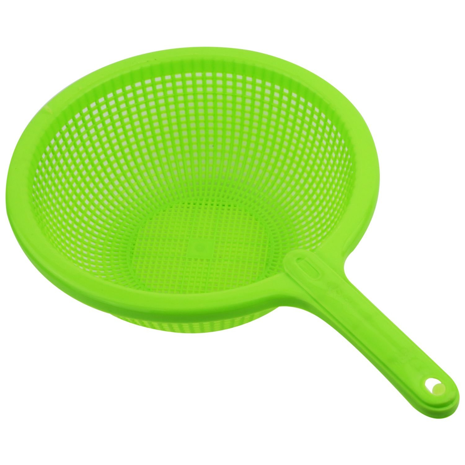 SODIAL(R) Plastic Long Handle Rice Colander Strainer Filter Green TRTA11A