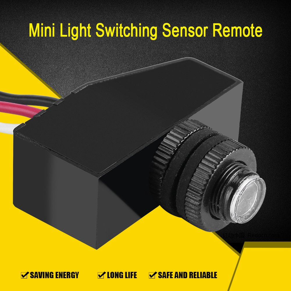 12V 24V 36V 48V Photocell Light Switch Auto ON Off Light Sensor Control Switch Dusk to Till Dawn