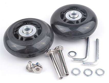 Set de 2 ruedas de repuesto para maletas ejes gbroth onestopdiy OD 64 mm #4