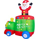 ASTEROUTDOOR 6ft Christmas Decorations Inflatable Claus Blow Up Built-in LED Outdoor Indoor Yard Lighted for Holiday Season,