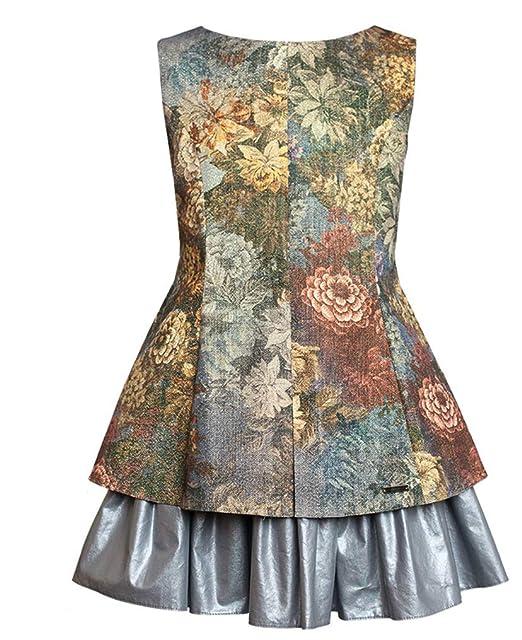 9d1781a5ffd7eb EU Ware SLY Exklusives Mädchen Kleid Fest Hochzeit Einschulung Fest Party  Braun Kleider: Amazon.de: Bekleidung
