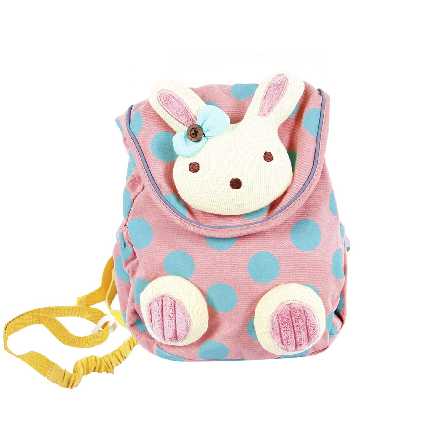 Labebe Toddler Backpack with Harness, Pink Backpack with Bunny for Kid of 1-3 Years, Anti-Lost Backpack with Anti-Lost Leash/Toddler Girl Backpack/Snack Bag Kid/Harness Backpack/Baby Girl Bag