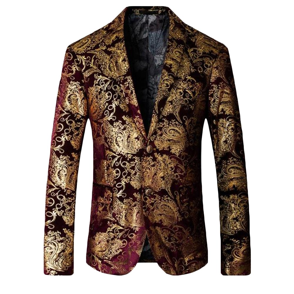 MAGE MALE BLAZER メンズ B07BGXVGK6 X-Small Red-goden Red-goden X-Small